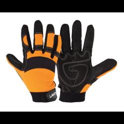 """rękawice warsztatowe """"11"""" czarno-pomarańczowe lahtipro"""