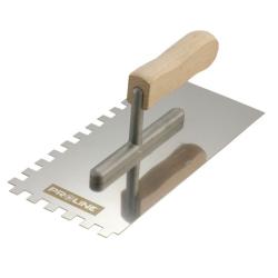 paca nierdzewna 270x130mm ząb 12x12mm rączka drewniana proline