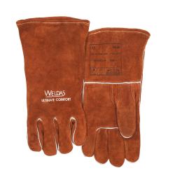 rękawice lewe z bawełnianą podszewką. prosty i wzmacniany kciuk.